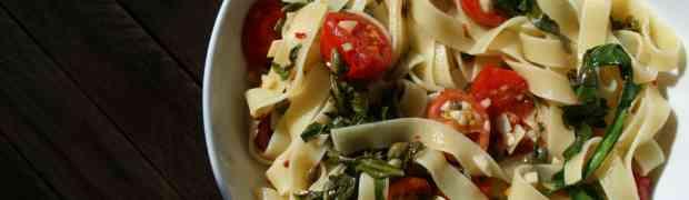 Tomato, caper, arugula pasta