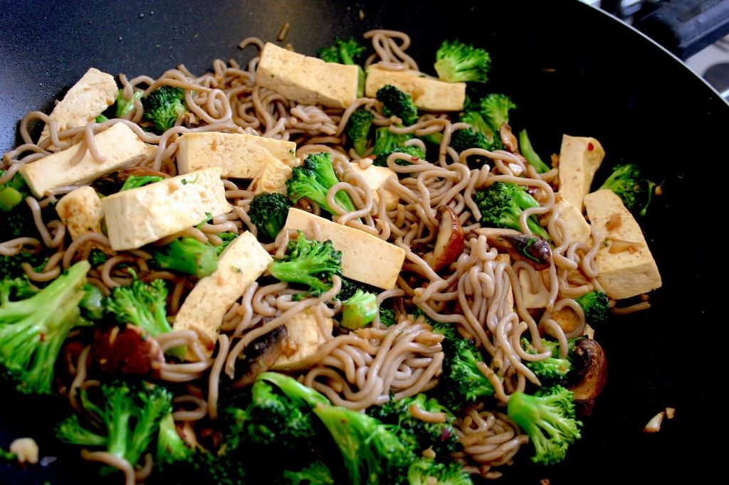 soba tofu broccoli