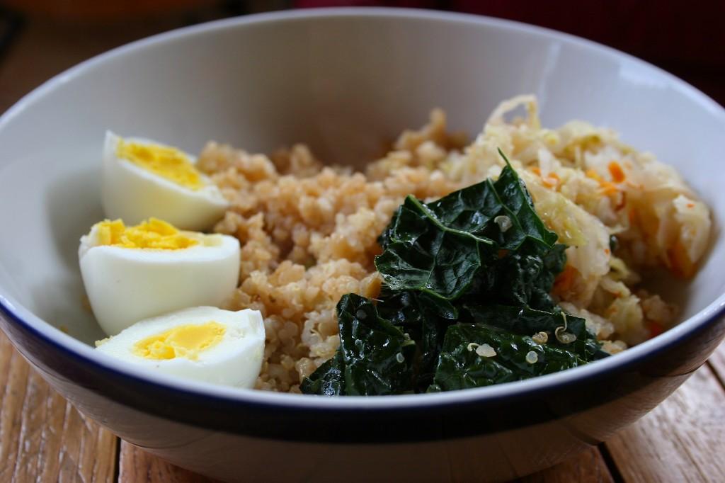 quinoa and rice bowl